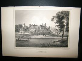 Holland Netherlands C1850's Antique Print. Woerden